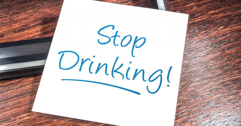 Stop drinking written on paper | Moving Minds Hypnotherapy